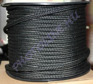 PP fonatolt kötél 6 mm erős fekete