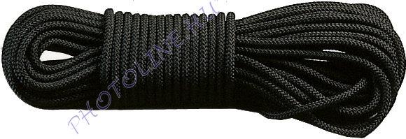 PP fonatolt kötél 4 mm fekete