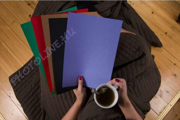 Színes papír A/4 100db, 5 féle sötét szín