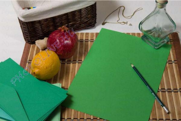 Színes papír A/4 100db, 80 gr, smaragdzöld