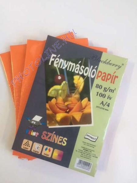 Színes papír A/4 100db, 80 gr, narancssárga