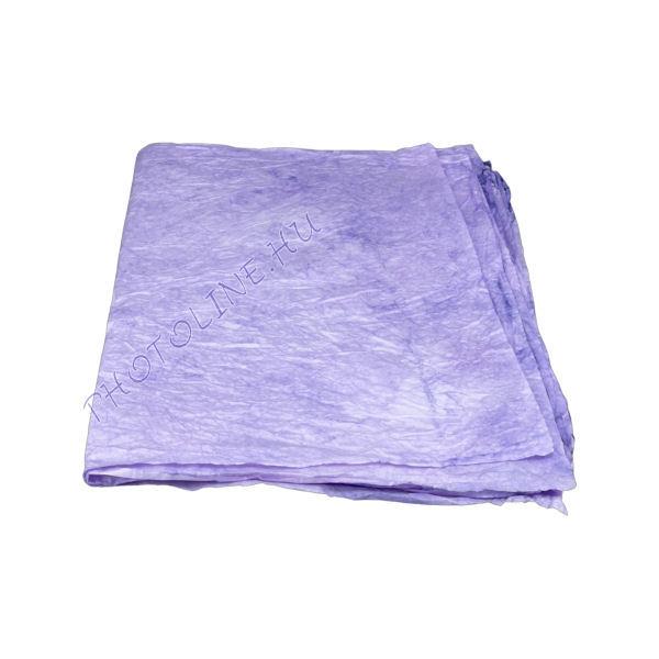 Mártott gyűrt papír, 60x80 cm, lila
