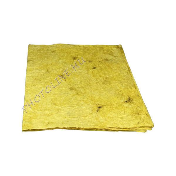 Mártott gyűrt papír, 60x80 cm, kávé