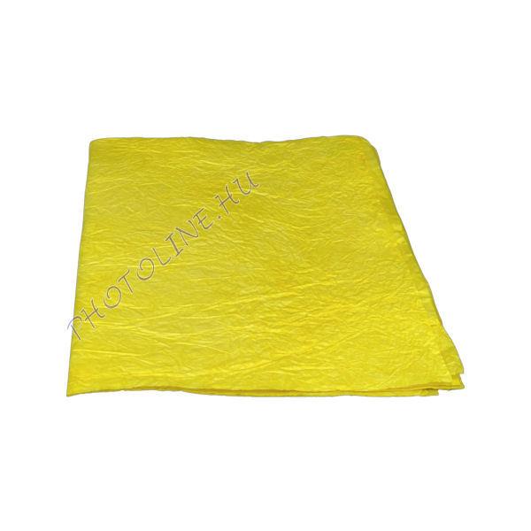 Mártott gyűrt papír, 60x80 cm, citrom