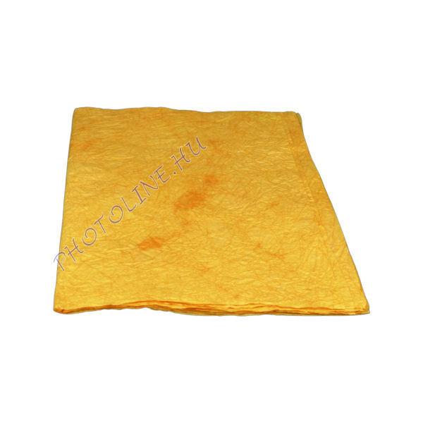 Mártott gyűrt papír, 60x80 cm, narancs