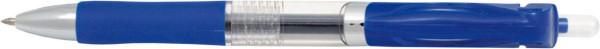 Zselés toll 0.5-ös kék, nyomógombos