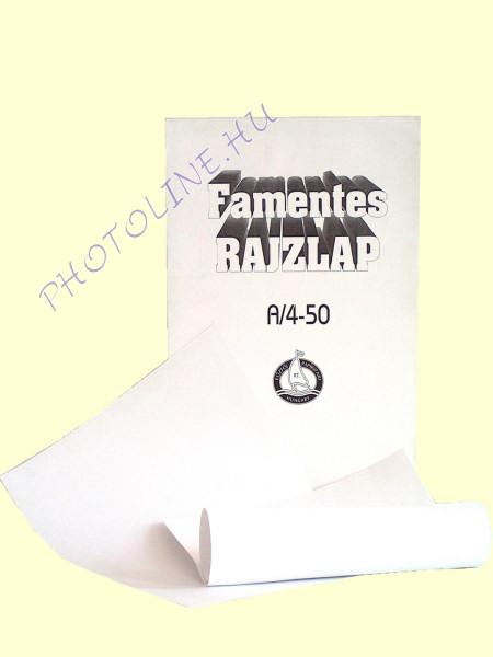Rajzlap fehér A/4 120 gr famentes, 20ív/csomag