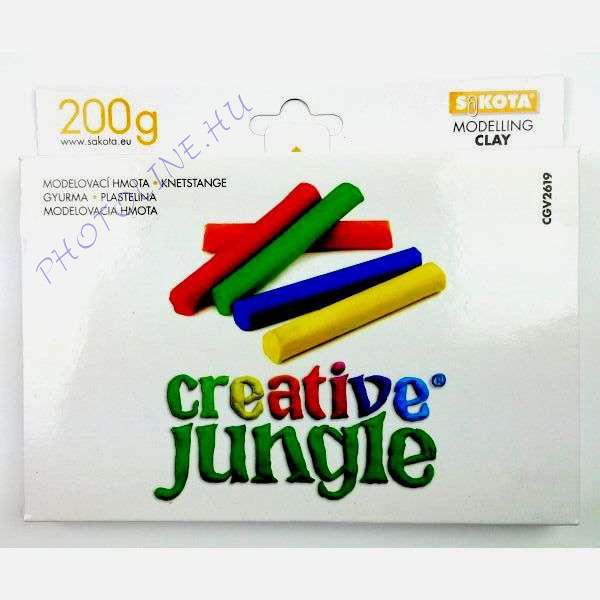 Gyurma színes, 200 gr creative jungle