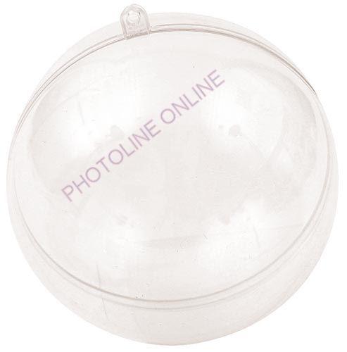 Átlátszó akril gömb, 2 részes, 14 cm