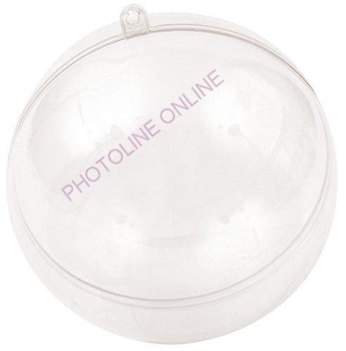 Átlátszó akril gömb, 2 részes, 16 cm