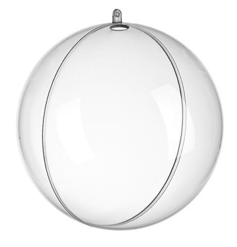 Átlátszó akril gömb, 2 részes, 20 cm