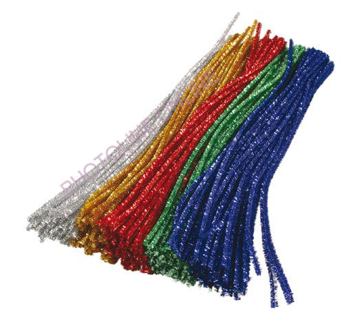 Zsenília drót 50 cm (5x2 db metál színű rúd)