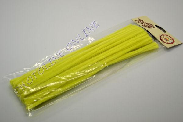 Zseníliadrót 6mm (50 db neon sárga színű 30cm-es rúd)