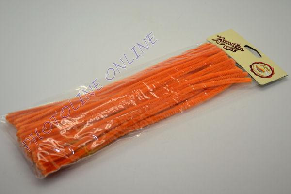 Zseníliadrót 6mm (50 db világos narancs színű 30cm-es rúd)