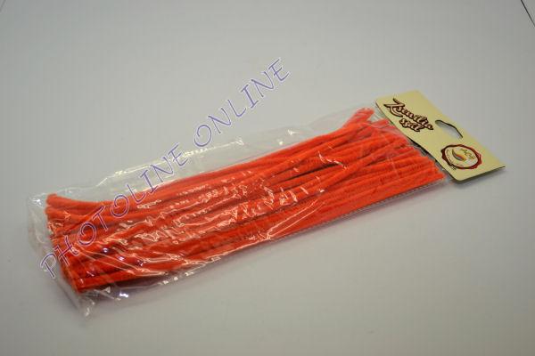 Zseníliadrót 6mm (50 db narancssárga színű 30cm-es rúd)