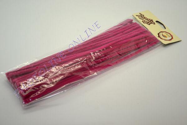Zseníliadrót 6mm (50 db sötét rózsa színű 30cm-es rúd)