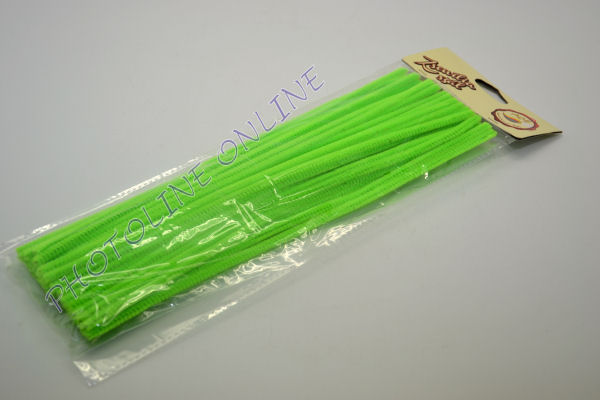 Zseníliadrót 6mm (50 db neon zöld színű 30cm-es rúd)