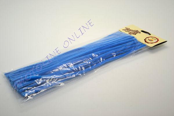 Zseníliadrót 6mm (50 db közép kék színű 30cm-es rúd)