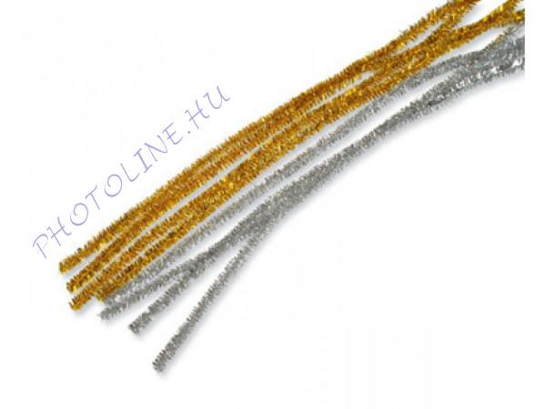 Zsenília drót 10 db ezüst színű rúd