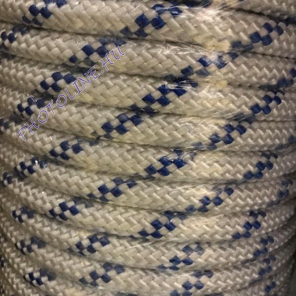 PP fonatolt kötél, 16 mm, fehér 2800+ kg, jelölőszínnel