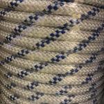 PP fonatolt kötél, 40 mm, fehér, jelölőszínnel