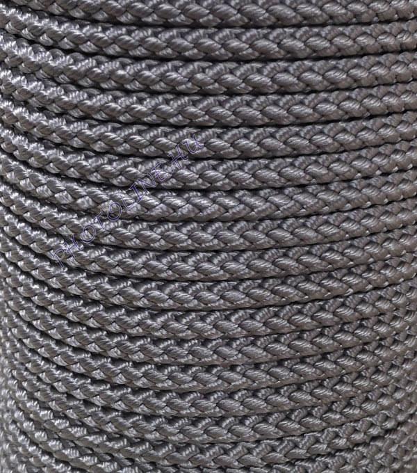 Fonatolt kötél PP 6 mm, ezüst