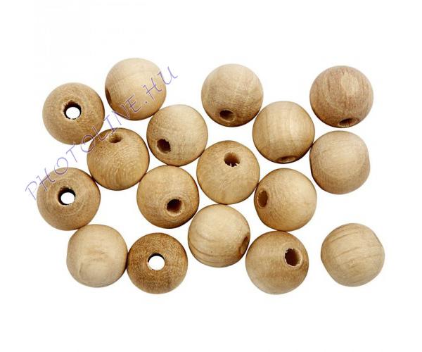 Fa golyó 12 mm átmérőjű, lyukas (100 darabos fagolyó)