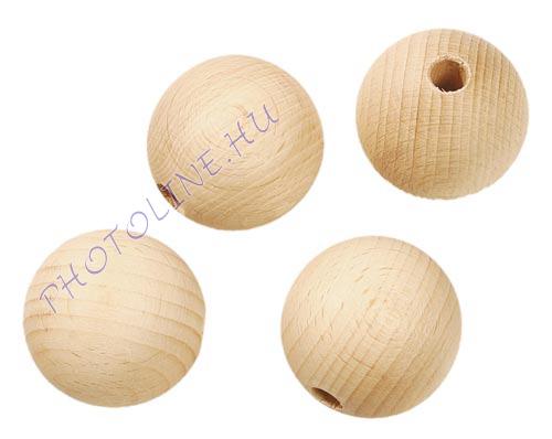 Fa golyó 40 mm átmérőjű, lyukas fagolyó