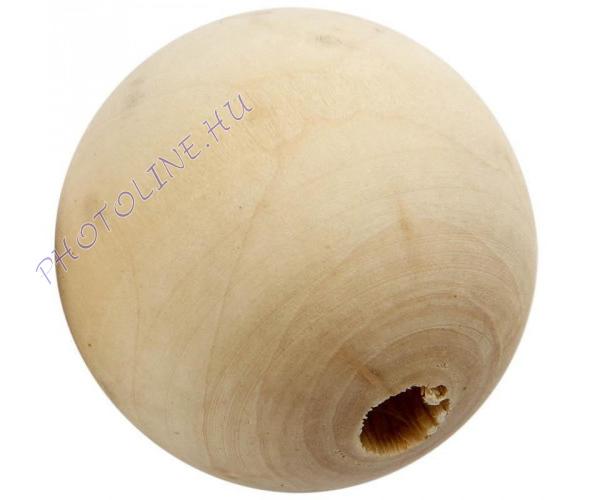 Fa golyó 50 mm átmérőjű, lyukas fagolyó