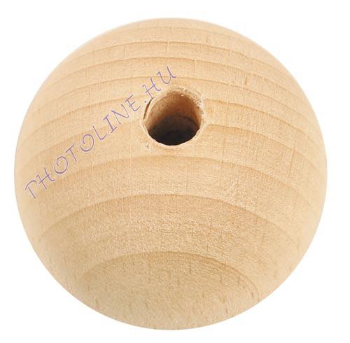 Fa golyó 70 mm átmérőjű, lyukas fagolyó