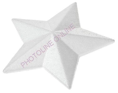 Hungarocell Csillag, 5 ágú, teli, 15 cm, polisztirol