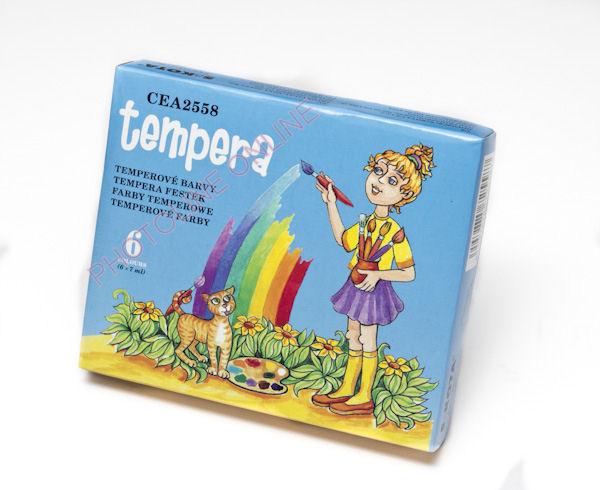 Tempera festék készlet 42ml, 6 alapszín