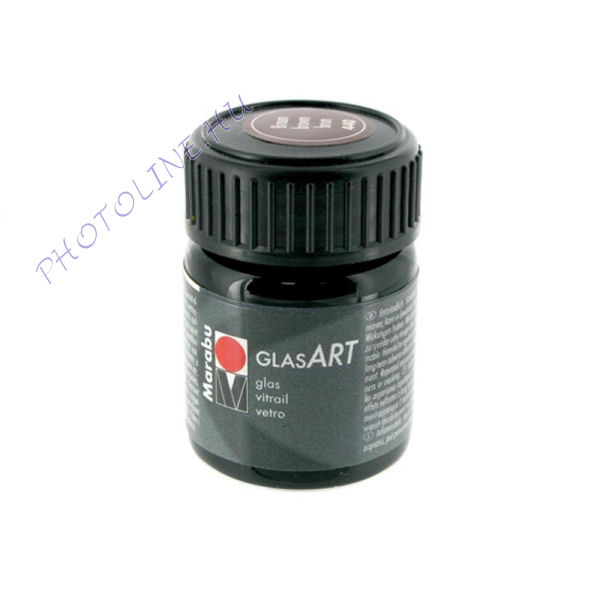 Marabu GlasART oldószeres festék, BARNA 15ml