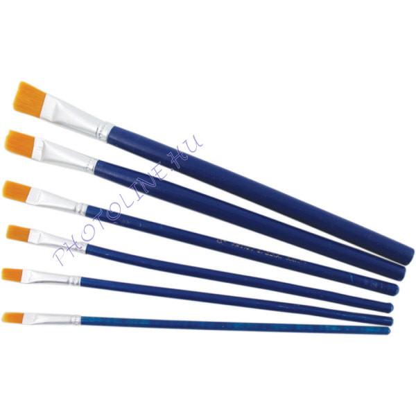 Dekopázs Művészecset 6 db-os nikkellel bevont, kék, méret: 1-1-3-3-5-6