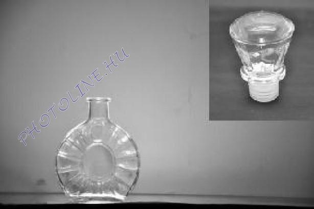 Üveg palack üveg kupakkal, 250ML