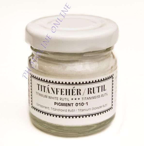 Pigmentpor TITÁNFEHÉR rutil, 30 ml