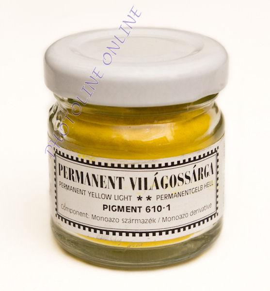 Pigmentpor PERMANENT VILÁGOSSÁRGA 30 ml