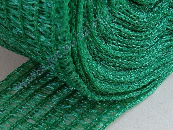 Árnyékoló háló, 1,2 m széles, 60 nm, zöld, 34gr/nm