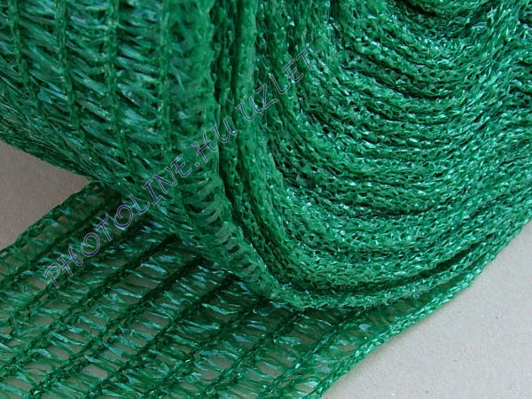 Árnyékoló háló, 3,6 m széles, 180 nm, zöld, 34gr/nm