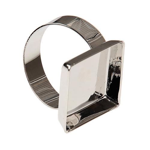 Ékszer gyűrű alap négyzetes, 2x2 cm