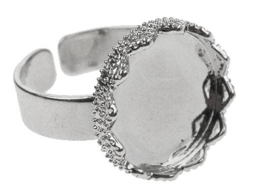 Ékszer gyűrű alap körlap, 17 mm
