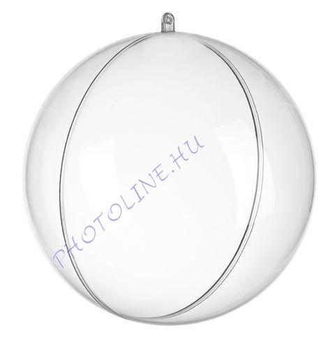 Átlátszó akril gömb, 2 részes, 3 cm