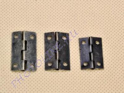 Antik zsanér szögletes 17 mm 4 furattal