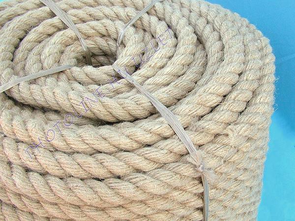 Natúr hatású kötél, vízálló, folyóméterre, 5 mm