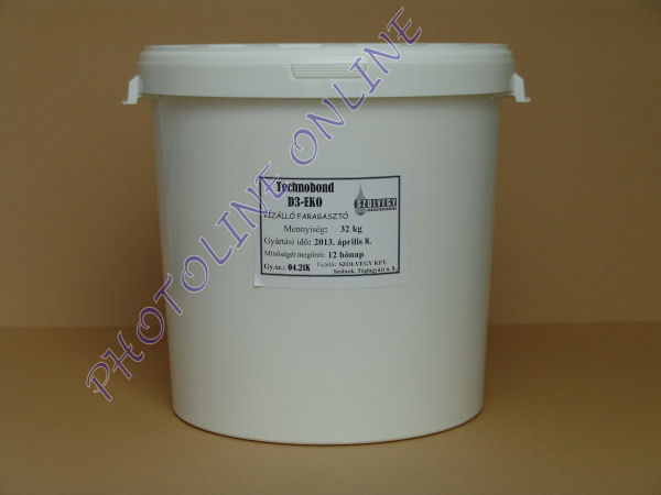 Vízálló faragasztó D3 3000, 32 kg, vödörben, alsó-oldalsó nyílással
