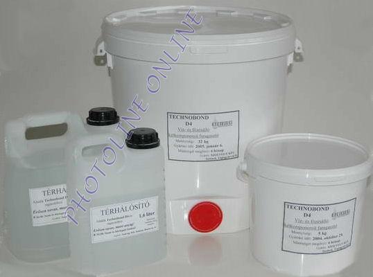 Vízálló faragasztó D4 4201 térhálósítóval, 5 kg, vödörben (két komponensű)