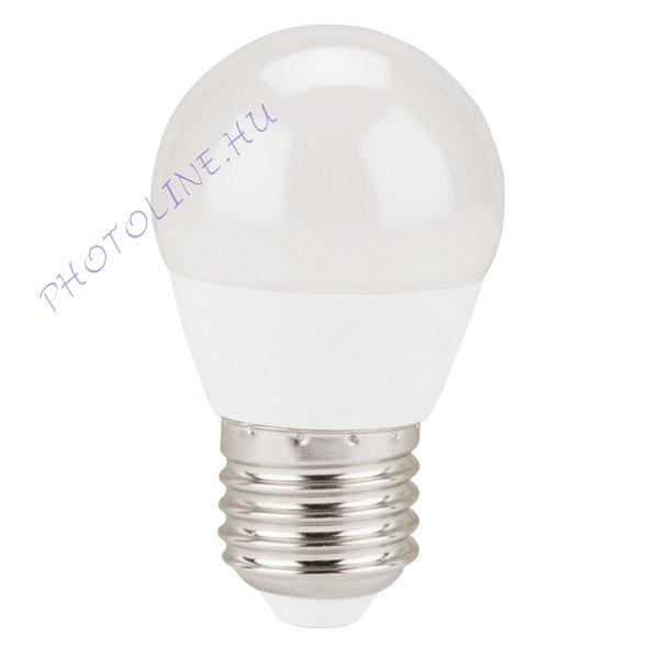 LED kisgömb izzó hagyományos foglalattal E27, 5W (410 lumen) melegfehér, EXTOL (43006)
