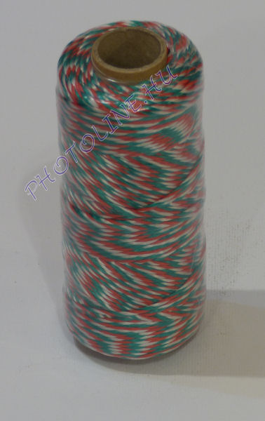 PPV kézműves és ékszerkészítő cérna, 100m, nemzeti színű (piros-fehér-zöld)