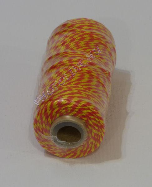 PPV kézműves és ékszerkészítő cérna, 100m, piros-sárga