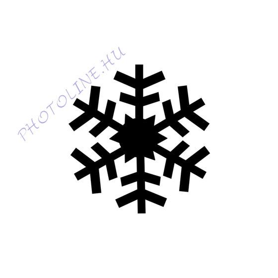 Formalyukasztó dekorgumihoz 25 mm, hópehely
